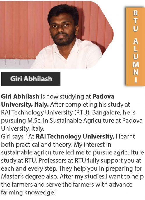 Successful students RAI TECHNOLOGY UNIVERSITY bangalore university