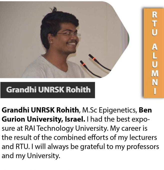 SUCCESSFUL STUDENTS RAI TECHNOLOGY UNIVERSITY BANGALORE
